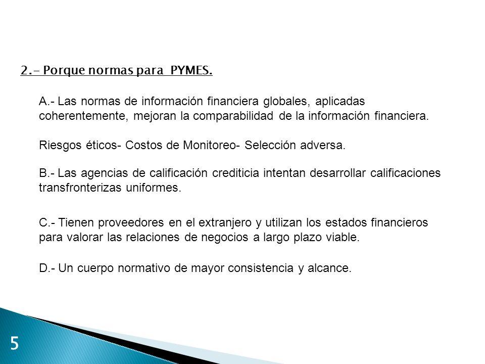 5 2.- Porque normas para PYMES.