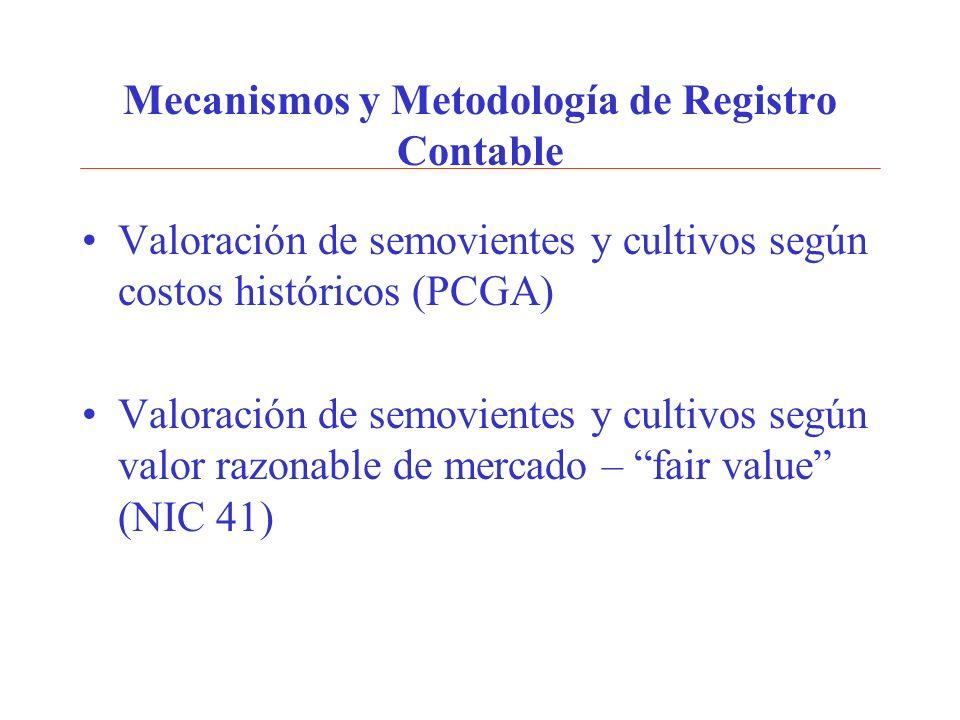 Mecanismos y Metodología de Registro Contable