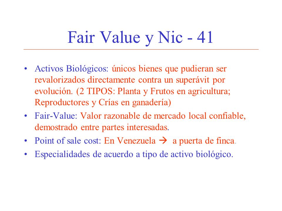Fair Value y Nic - 41