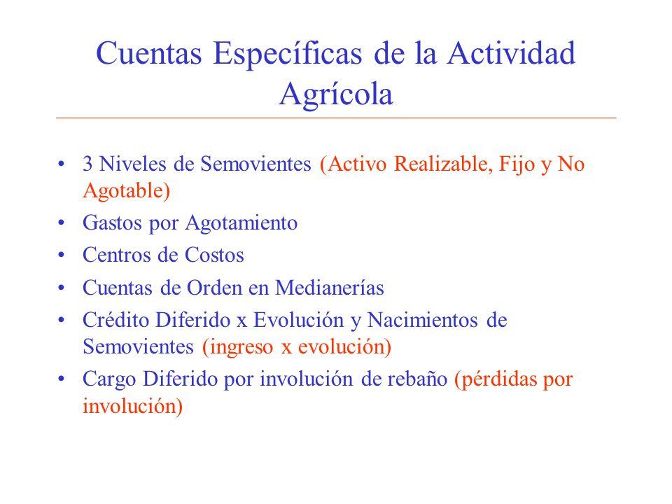 Cuentas Específicas de la Actividad Agrícola