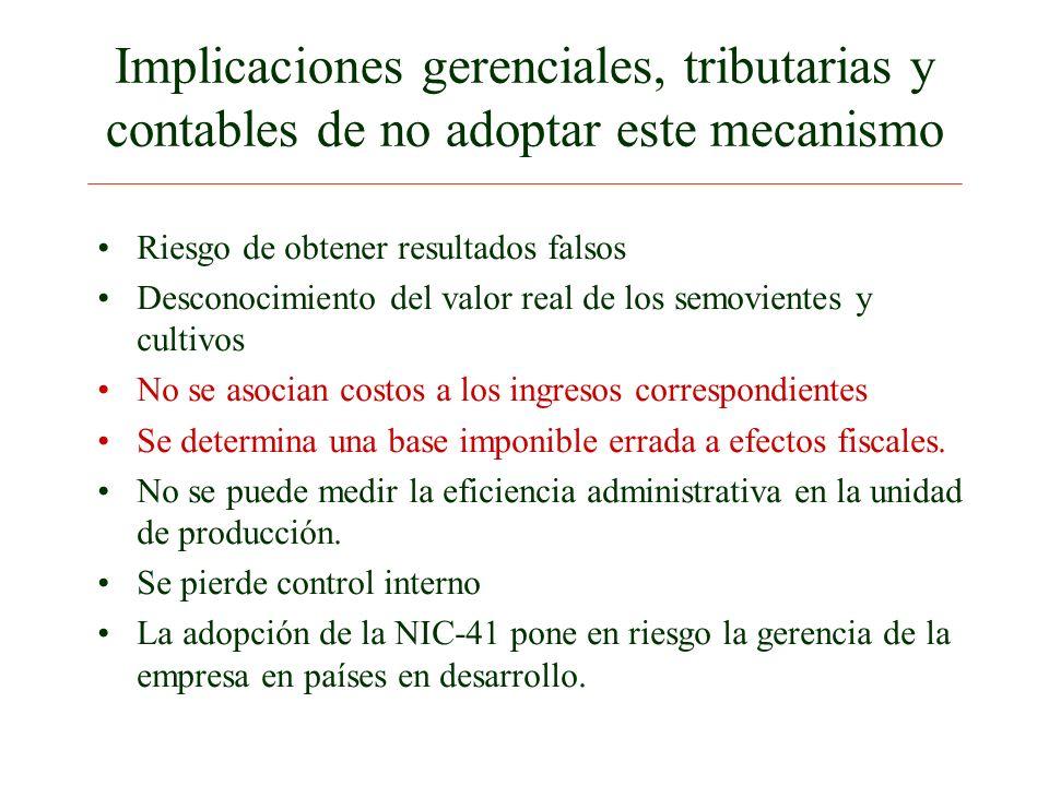Implicaciones gerenciales, tributarias y contables de no adoptar este mecanismo