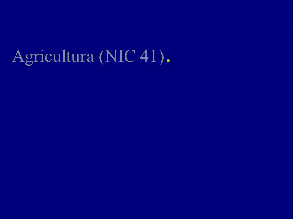 Agricultura (NIC 41).