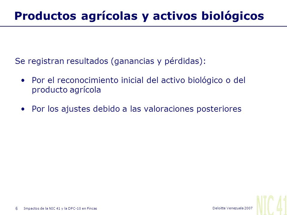 Productos agrícolas y activos biológicos