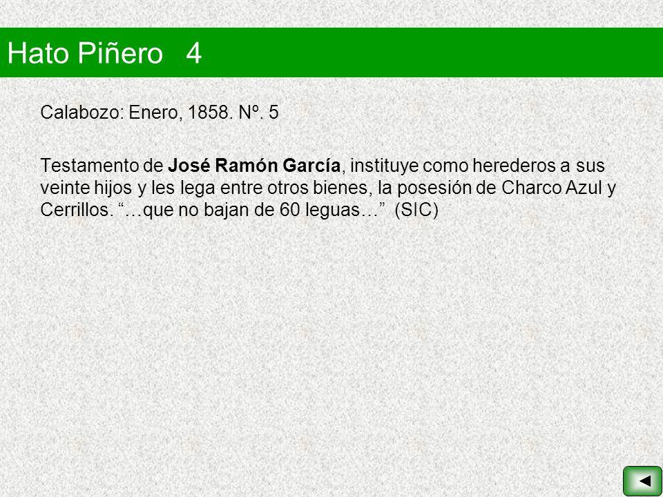Hato Piñero 4 Calabozo: Enero, 1858. Nº. 5