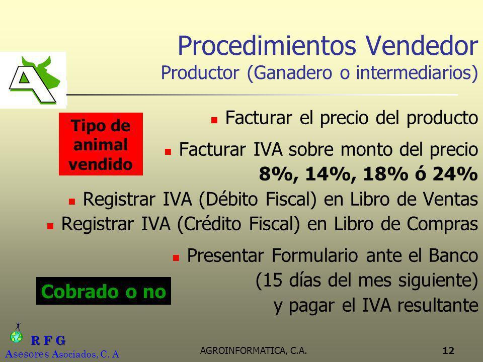 Procedimientos Vendedor Productor (Ganadero o intermediarios)