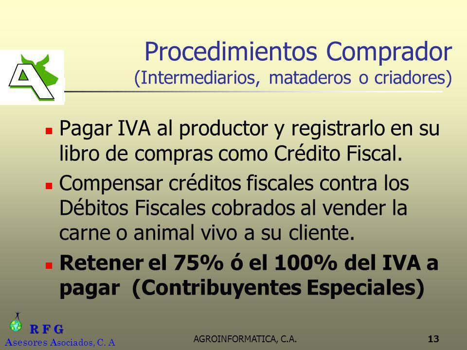 Procedimientos Comprador (Intermediarios, mataderos o criadores)