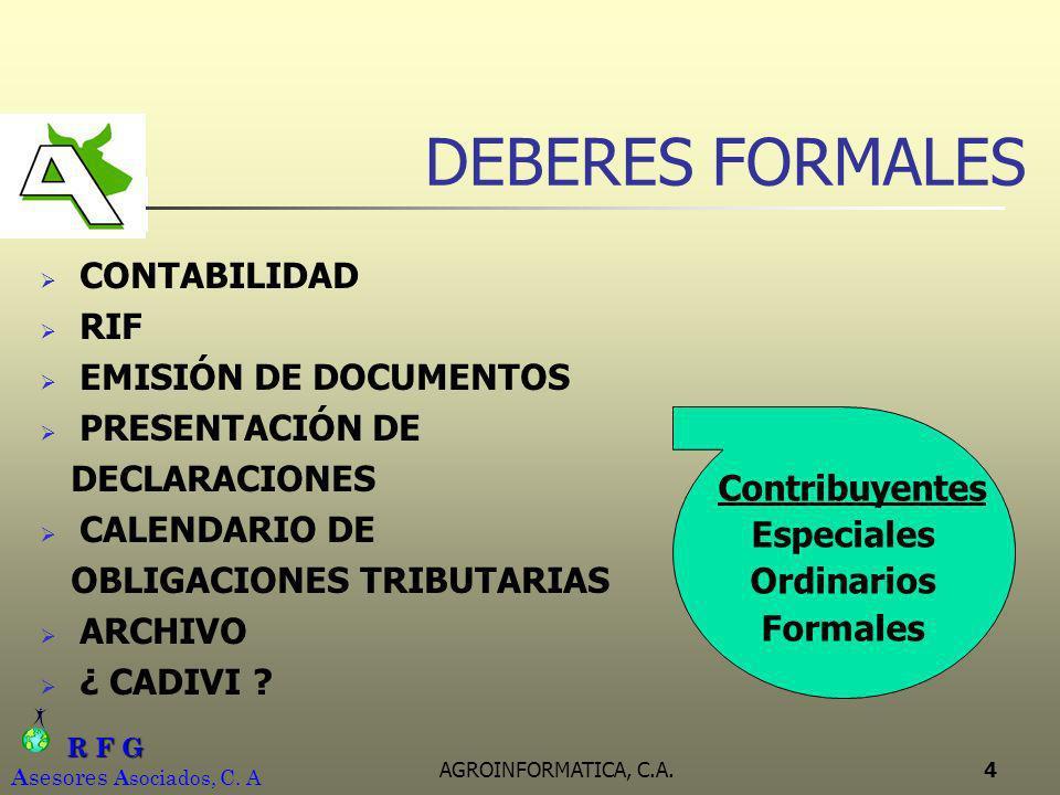 DEBERES FORMALES CONTABILIDAD RIF EMISIÓN DE DOCUMENTOS