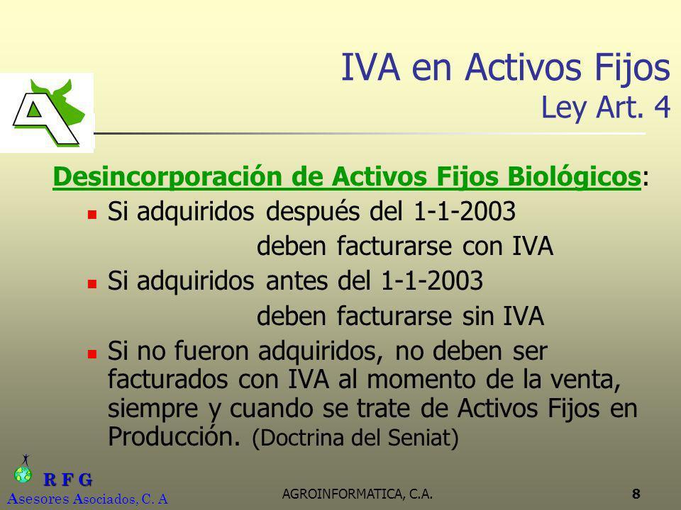 IVA en Activos Fijos Ley Art. 4
