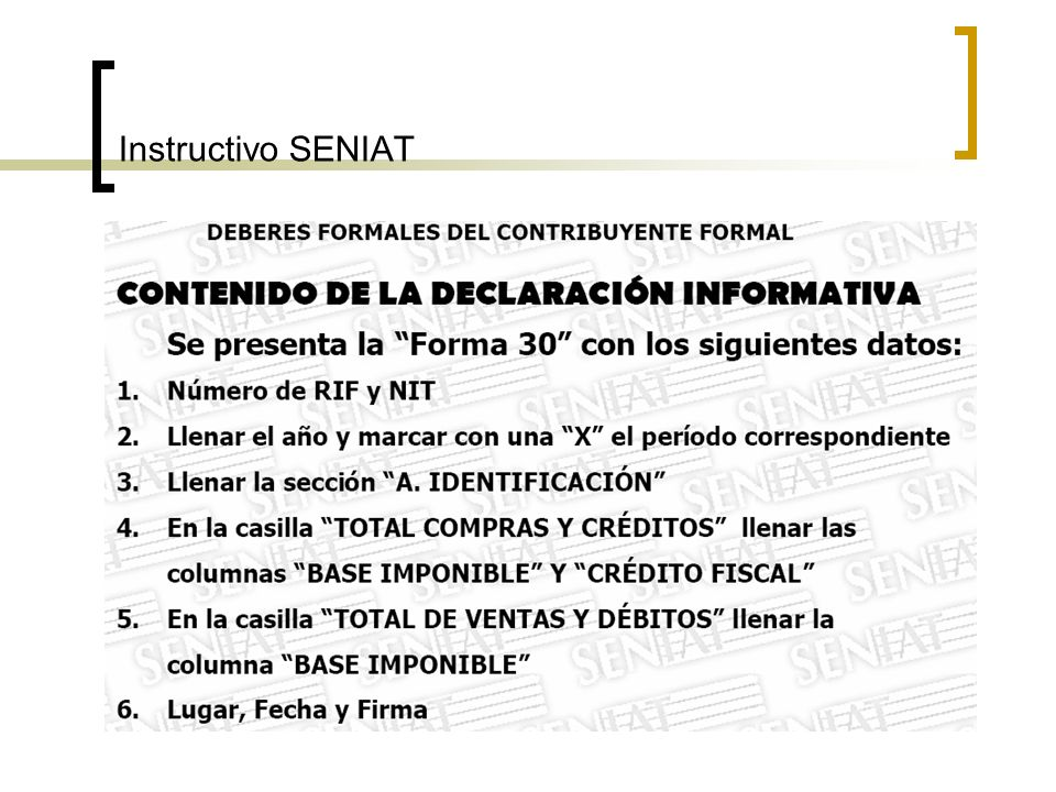 Instructivo SENIAT