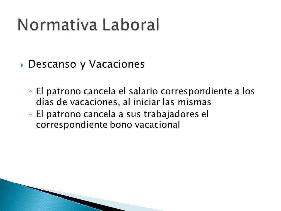 Normativa Laboral Descanso y Vacaciones