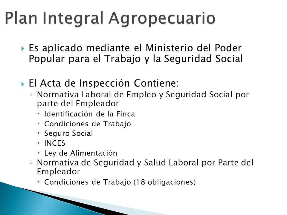 Plan Integral Agropecuario