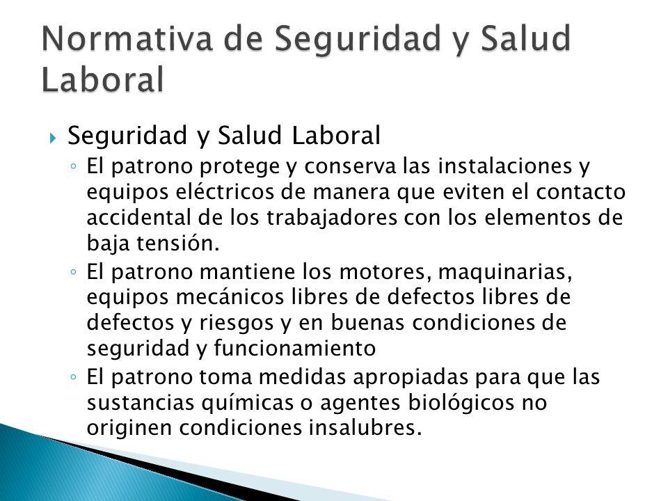 Normativa de Seguridad y Salud Laboral