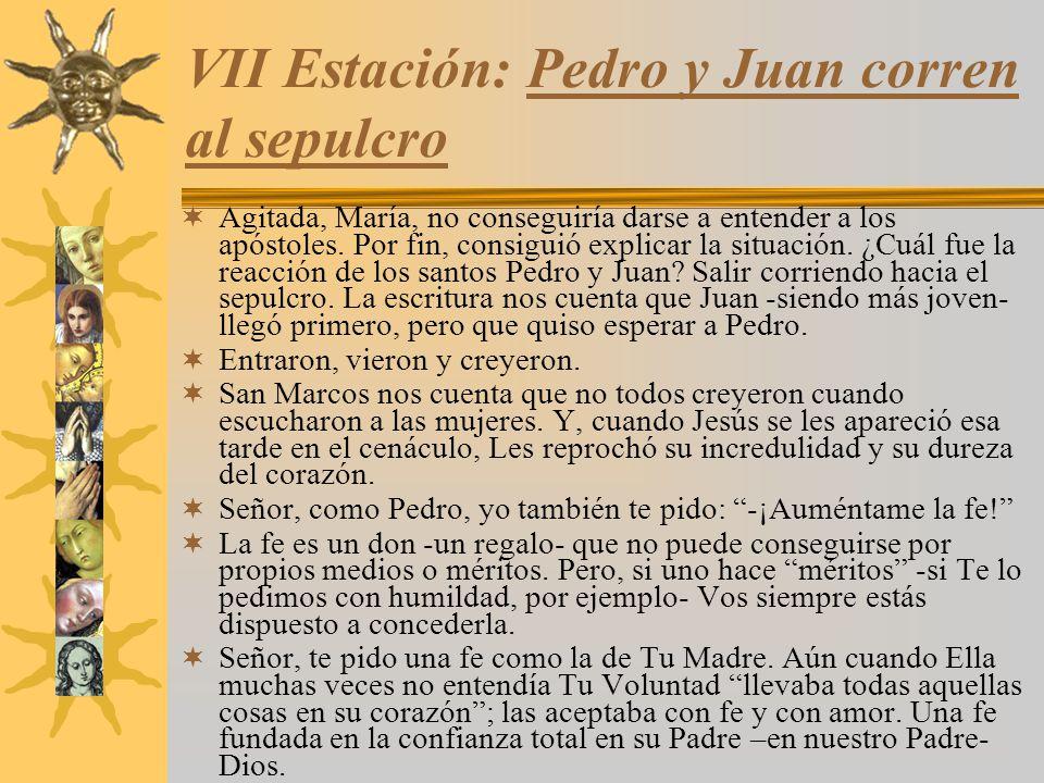 VII Estación: Pedro y Juan corren al sepulcro