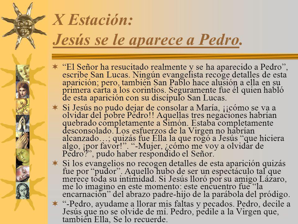 X Estación: Jesús se le aparece a Pedro.