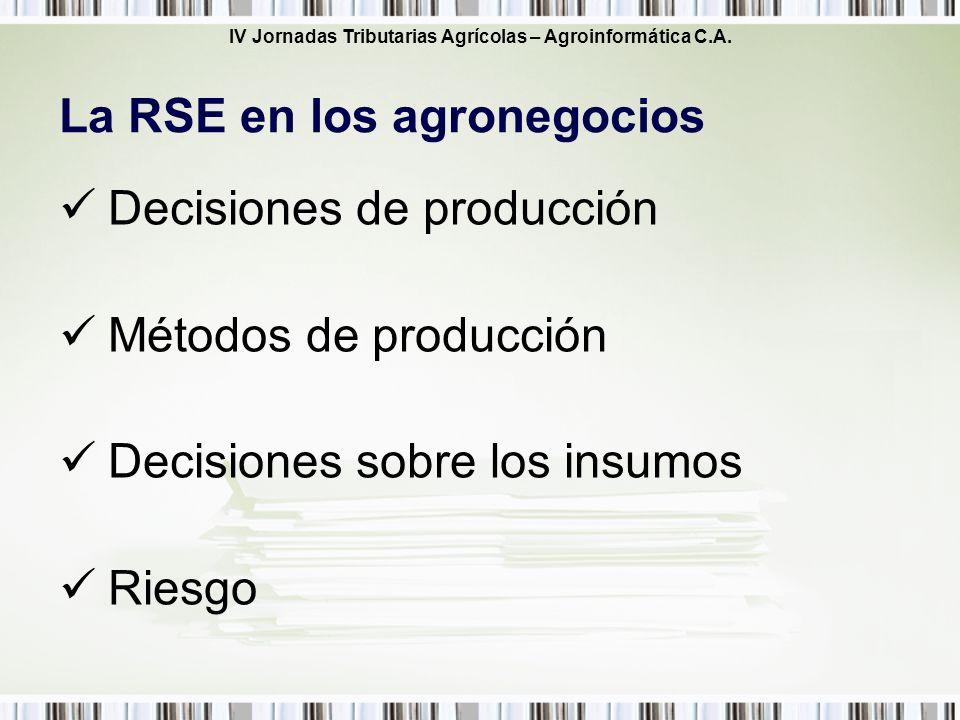 La RSE en los agronegocios
