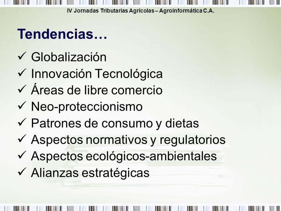Tendencias… Globalización Innovación Tecnológica