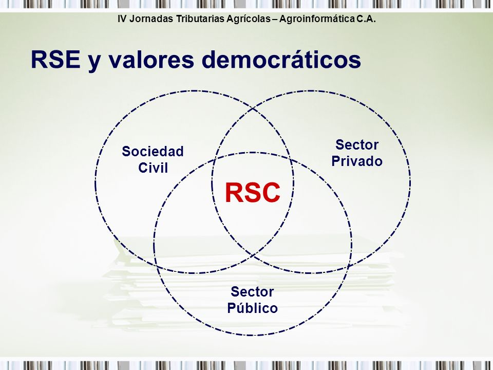 RSC RSE y valores democráticos Sector Privado Sociedad Civil