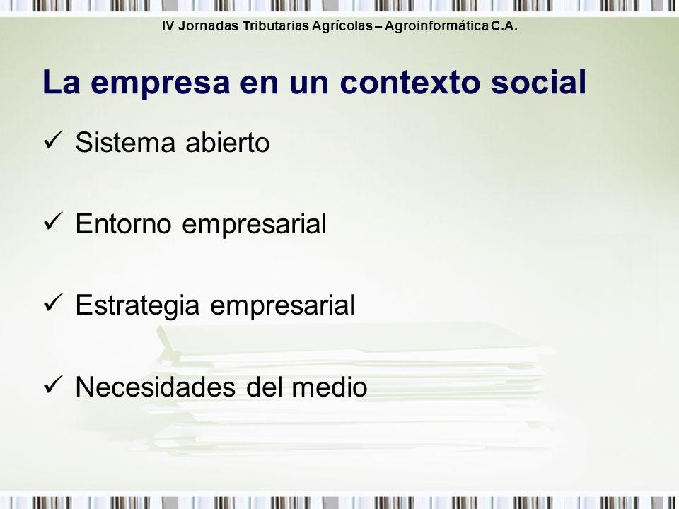La empresa en un contexto social