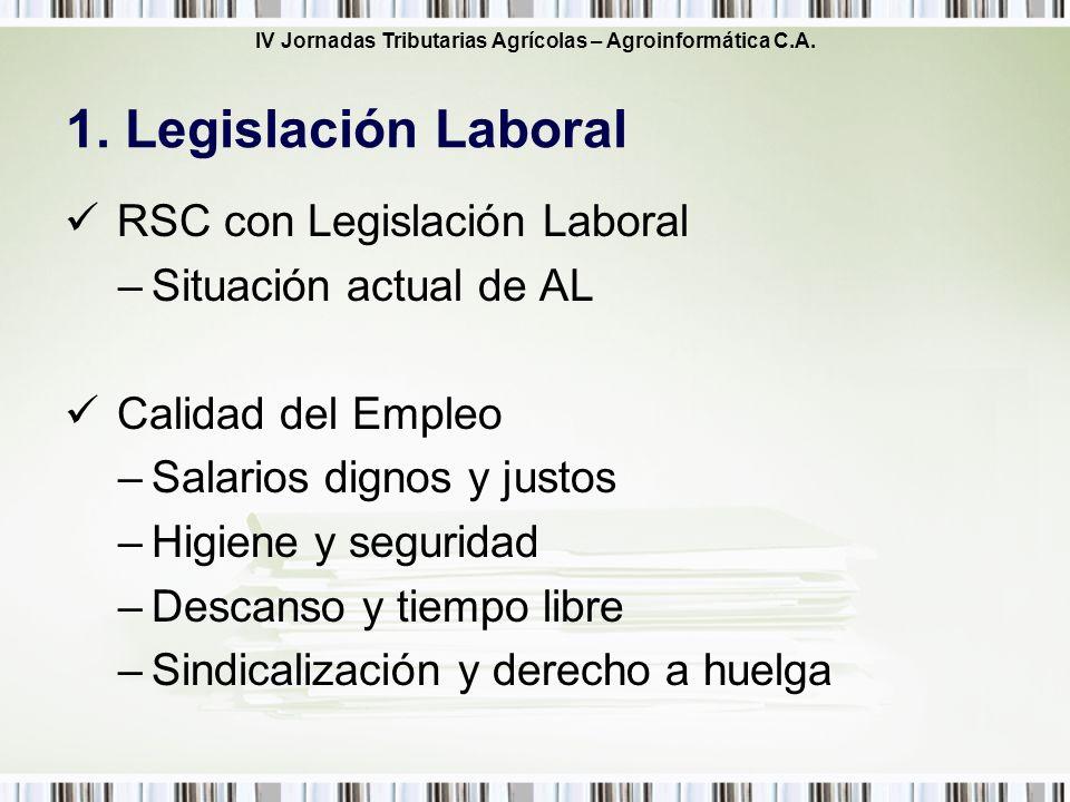 1. Legislación Laboral RSC con Legislación Laboral