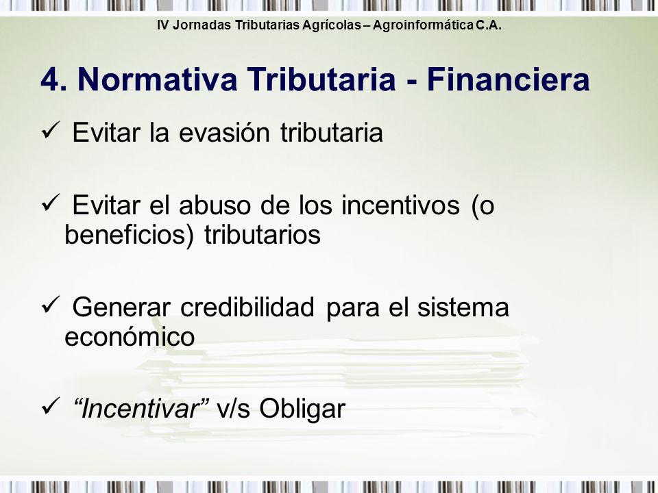 4. Normativa Tributaria - Financiera