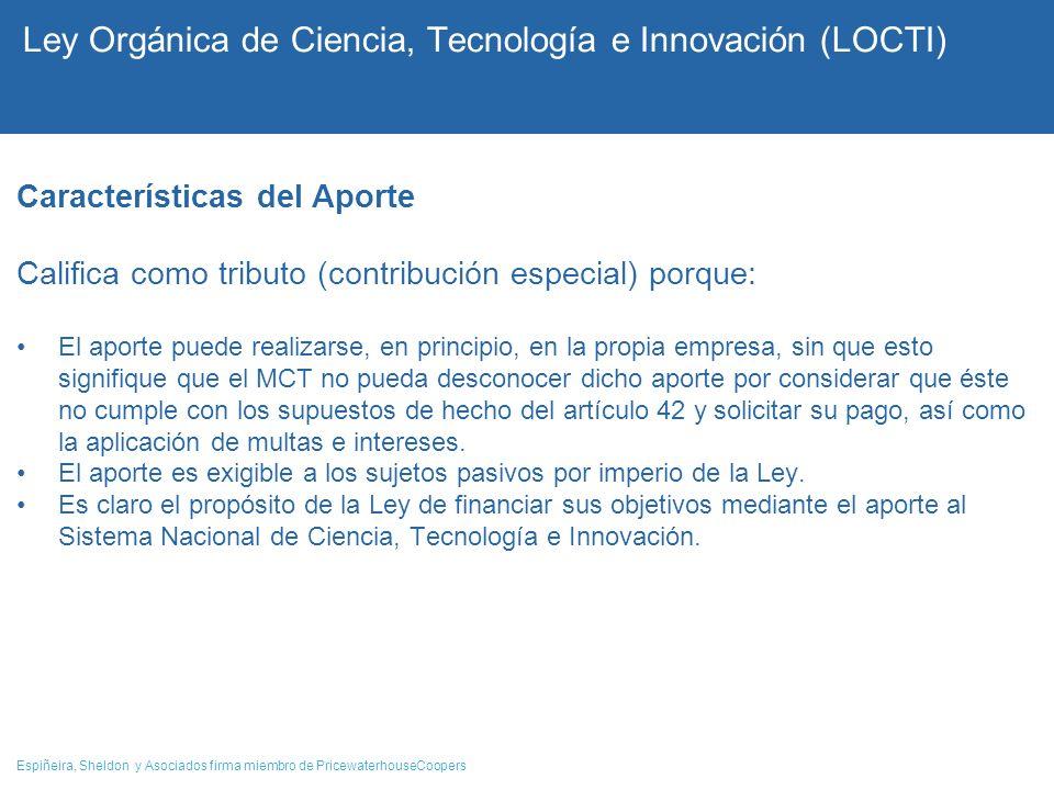 Ley Orgánica de Ciencia, Tecnología e Innovación (LOCTI)