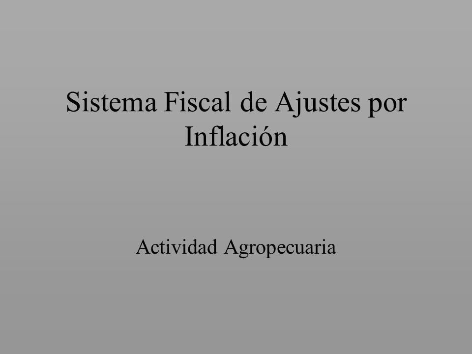 Sistema Fiscal de Ajustes por Inflación
