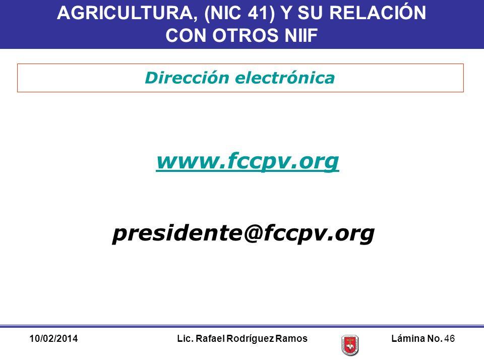 www.fccpv.org presidente@fccpv.org