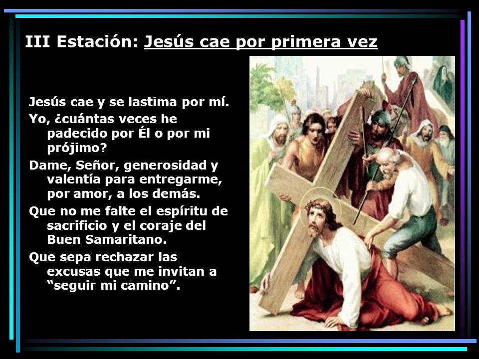 III Estación: Jesús cae por primera vez