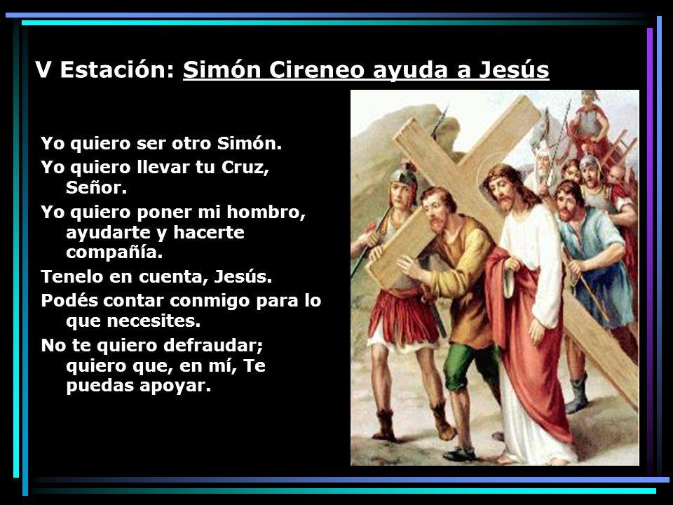 V Estación: Simón Cireneo ayuda a Jesús
