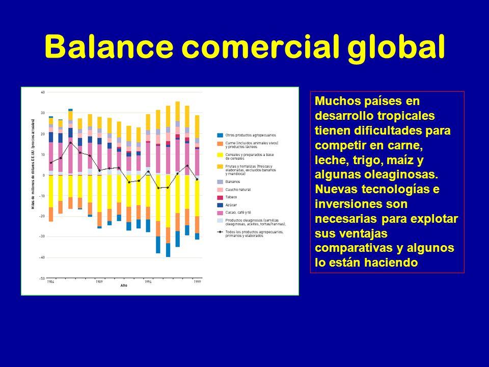 Balance comercial global
