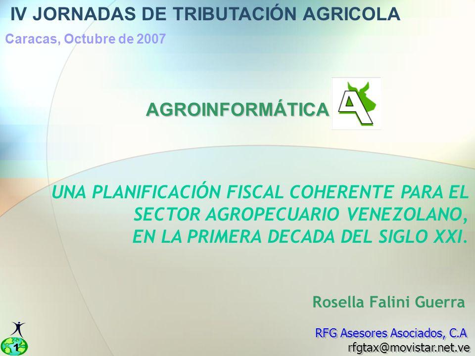 IV JORNADAS DE TRIBUTACIÓN AGRICOLA