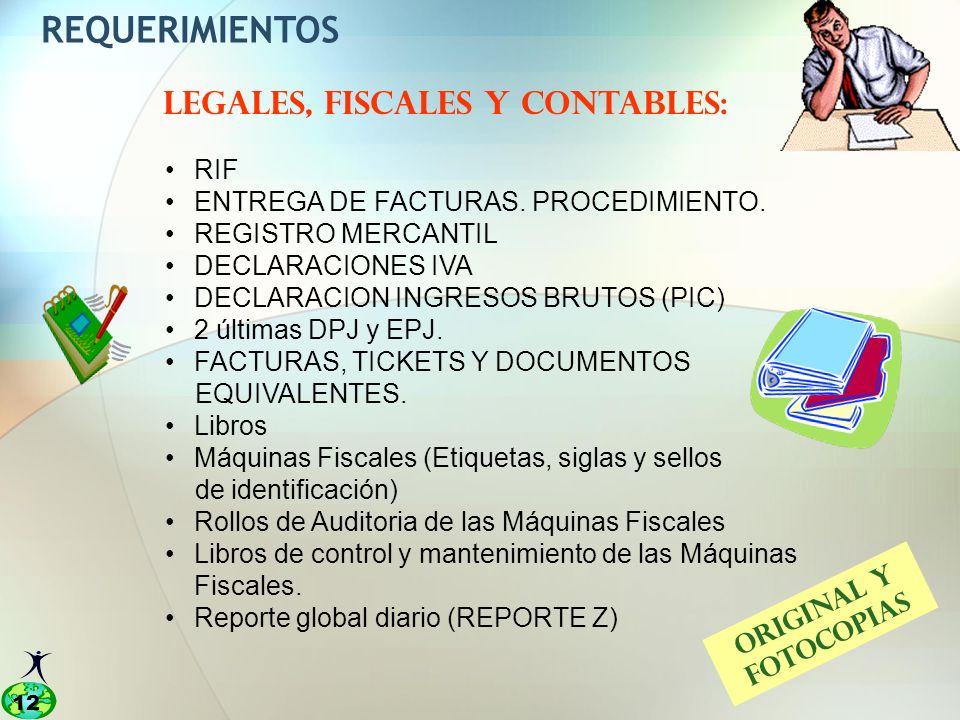 LEGALES, FISCALES Y CONTABLES: