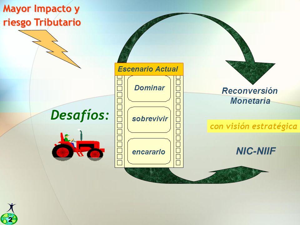 Desafíos: Mayor Impacto y riesgo Tributario NIC-NIIF Reconversión