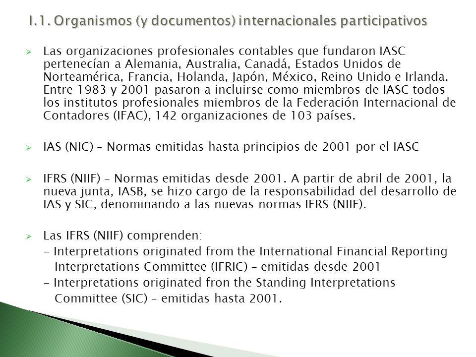 I.1. Organismos (y documentos) internacionales participativos