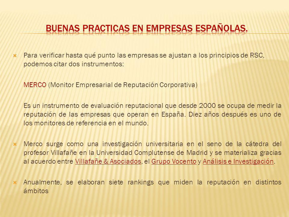 BUENAS PRACTICAS EN EMPRESAS ESPAÑOLAS.