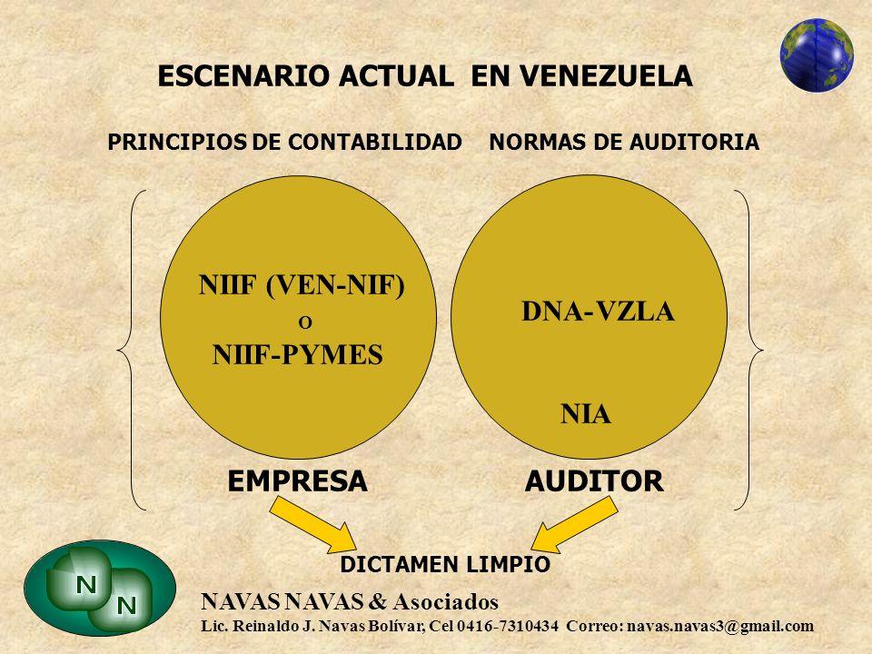 ESCENARIO ACTUAL EN VENEZUELA PRINCIPIOS DE CONTABILIDAD