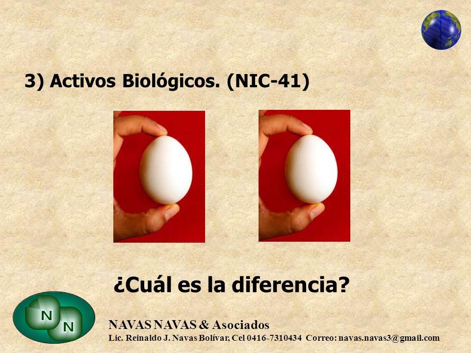 3) Activos Biológicos. (NIC-41)