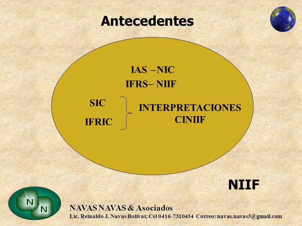 Antecedentes NIIF IAS – NIC IFRS – NIIF SIC INTERPRETACIONES CINIIF