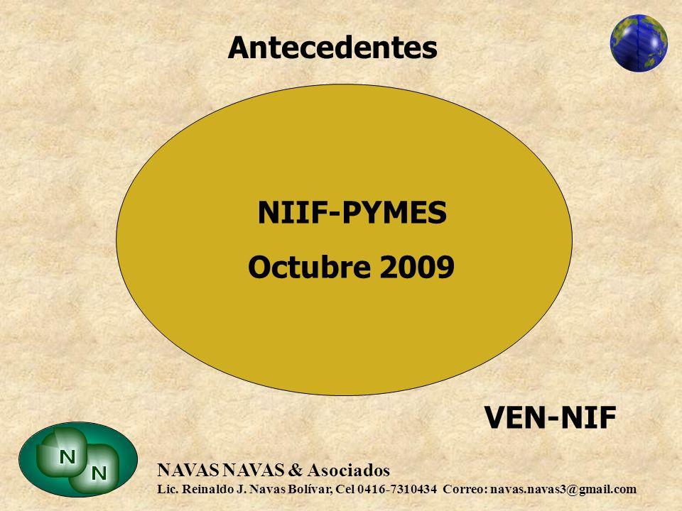 Antecedentes NIIF-PYMES Octubre 2009 VEN-NIF