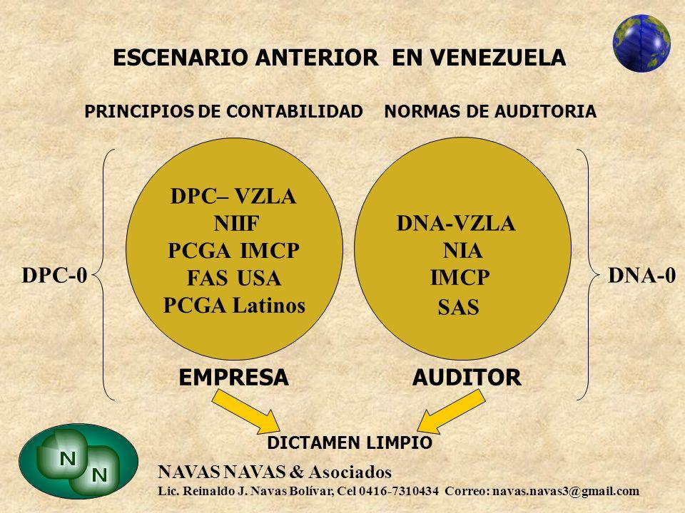 ESCENARIO ANTERIOR EN VENEZUELA PRINCIPIOS DE CONTABILIDAD