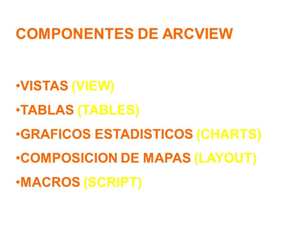 COMPONENTES DE ARCVIEW