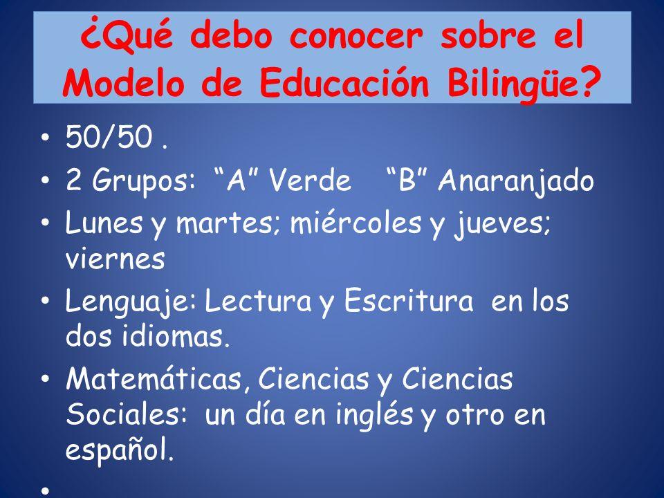 ¿Qué debo conocer sobre el Modelo de Educación Bilingüe