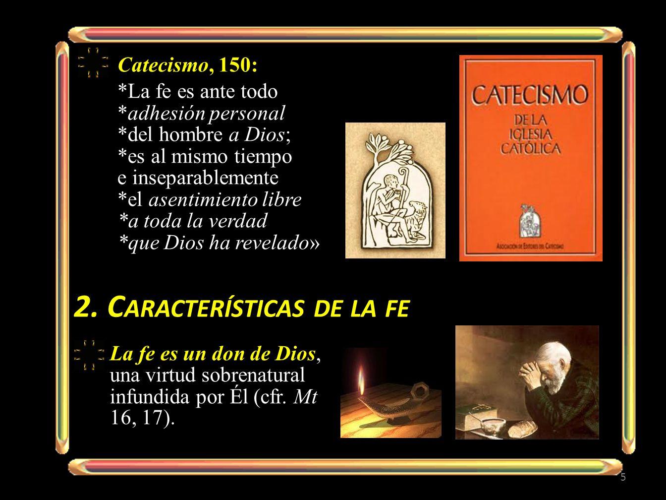 2. Características de la fe