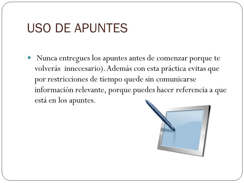 USO DE APUNTES