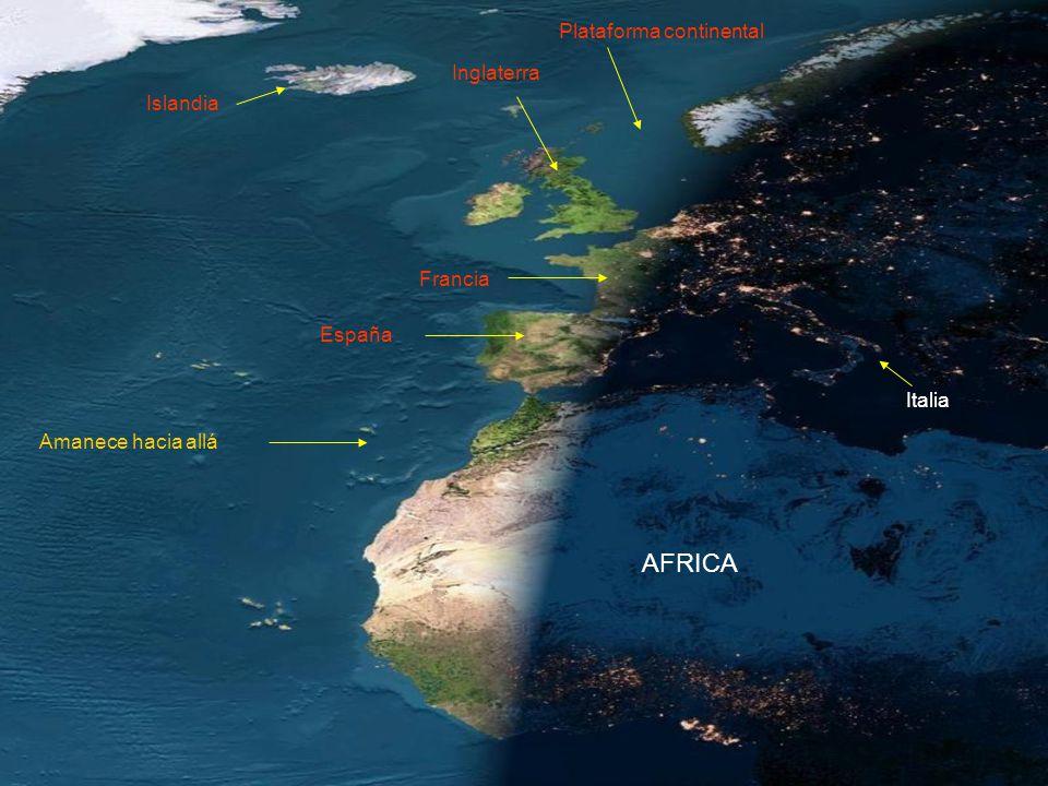 AFRICA Plataforma continental Inglaterra Islandia Francia España
