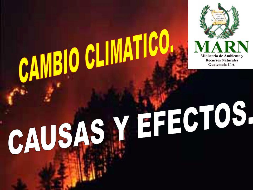CAMBIO CLIMATICO. CAUSAS Y EFECTOS.