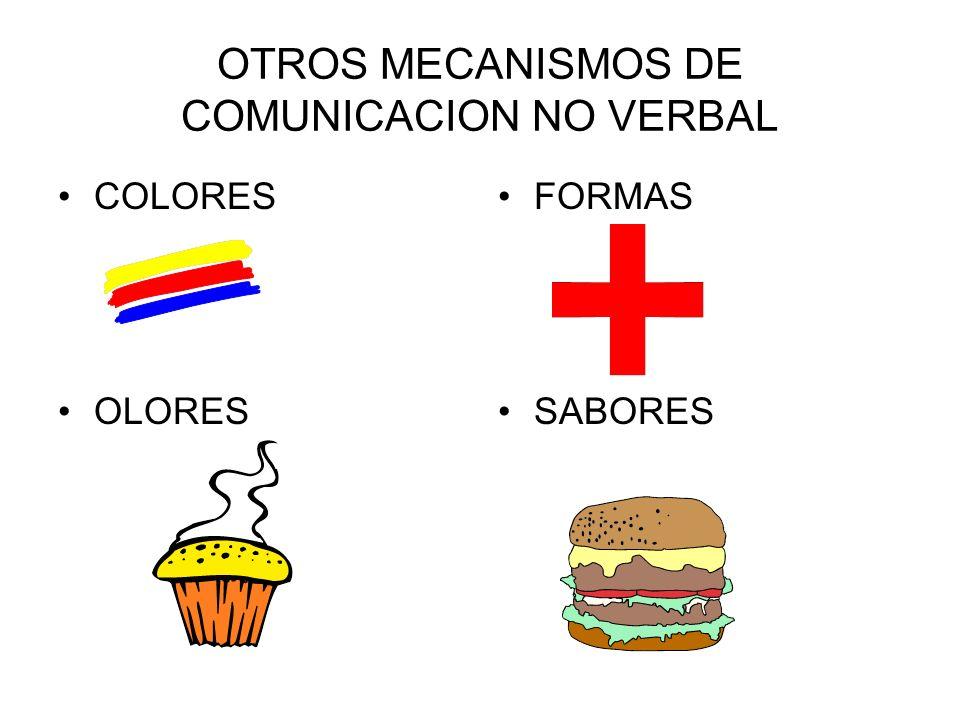 OTROS MECANISMOS DE COMUNICACION NO VERBAL