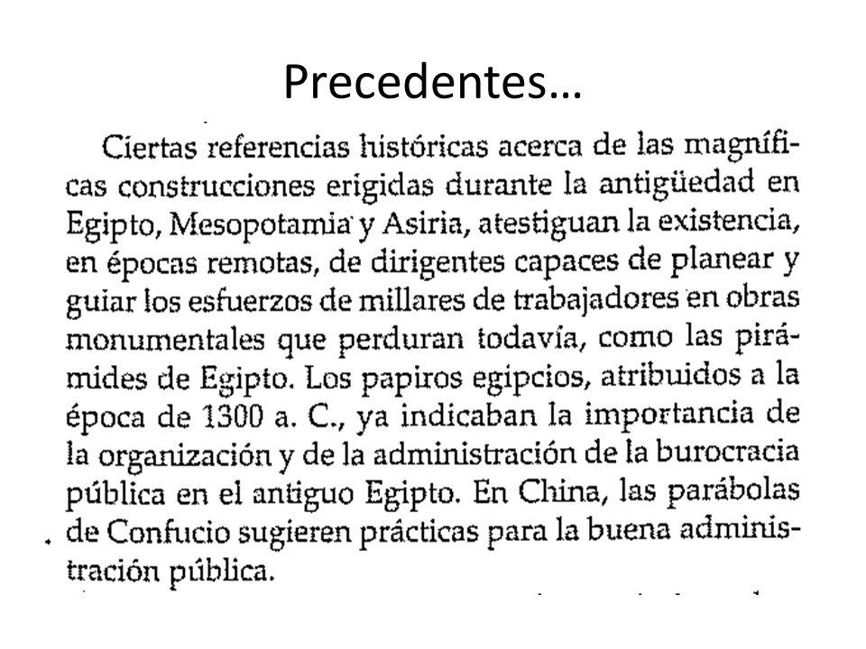 Precedentes…