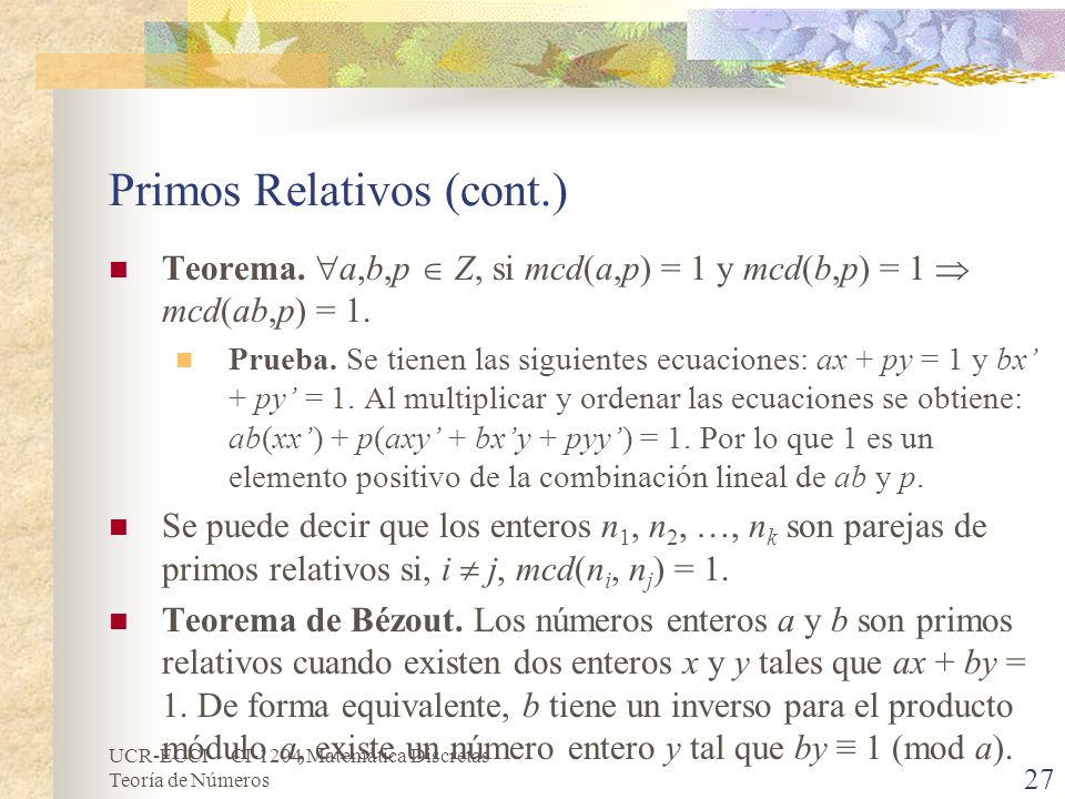 Primos Relativos (cont.)