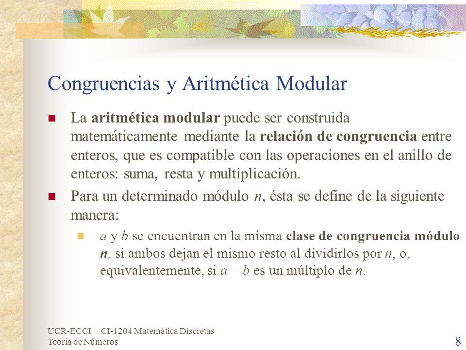 Congruencias y Aritmética Modular